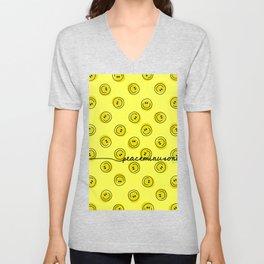 PMO Yellow Happiness Unisex V-Neck