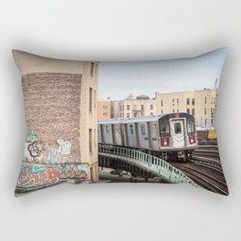 Incoming 2 Train Rectangular Pillow
