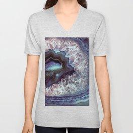 Ocean Blues Quartz Crystal Unisex V-Neck
