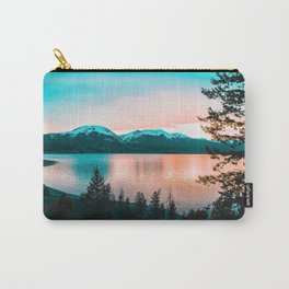 Teal & Orange Sunset Carry-All Pouch