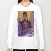 bane Long Sleeve T-shirts featuring Magnus Bane by AkiMao