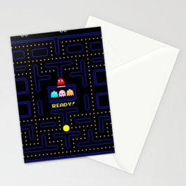 Pac Man Stationery Cards