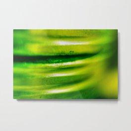 green metall Metal Print