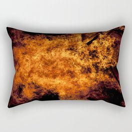 Burning Fire Rectangular Pillow
