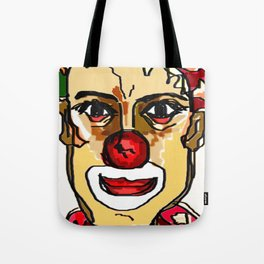 troubled clown Tote Bag