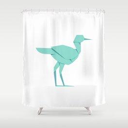 Origami Stork Shower Curtain