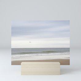 At the beach   Sea   Minimalisic photography Mini Art Print