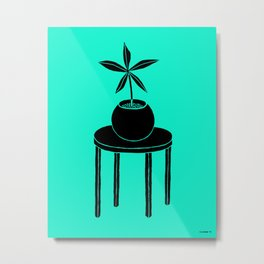 Plant on table Metal Print