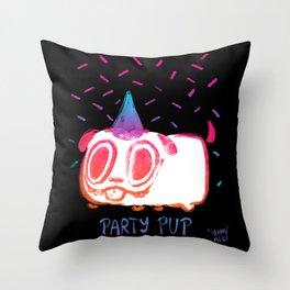 Party Pup!! Throw Pillow