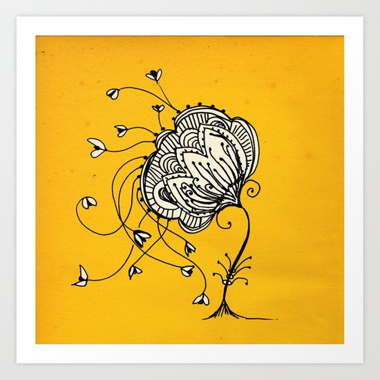 lonely mind  Art Print