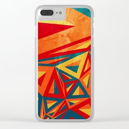 Triangle Tessellations Clear iPhone Case