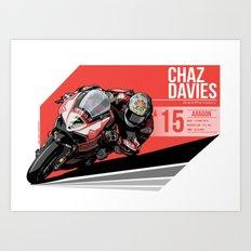 Chaz Davies - 2015 Aragon Art Print