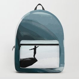 Dive from the cliff Backpack