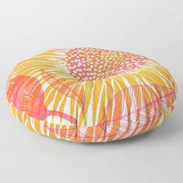 Yellow Sunflower Floor Pillow