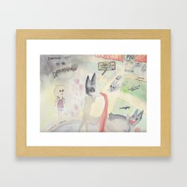 Direction System for (the Garden of) the Deranged Framed Art Print