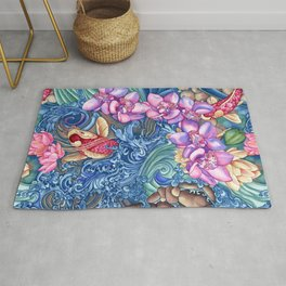Orchid Splash Rug