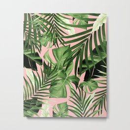 Tropical Jungle Leaves Pattern #11 #tropical #decor #art #society6 Metal Print
