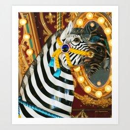 Wild Ride On A Carousel II Art Print