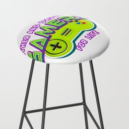 Father and Daughter Gamers For Life Bar Stool
