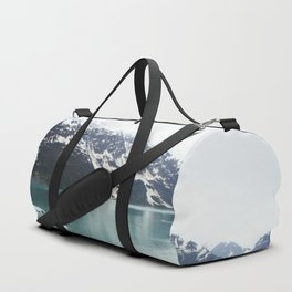 Hubbard Glacier Snowy Mountains Alaska Wilderness Duffle Bag