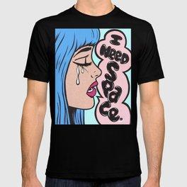 I Need Space. Crying Comic Girl T-shirt
