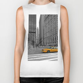 NYC - Yellow Cabs - Trinity Place Biker Tank