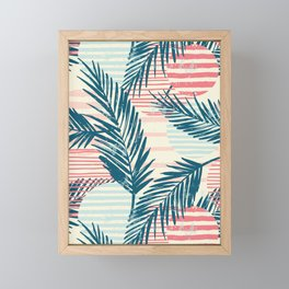 Tropical pattern Framed Mini Art Print