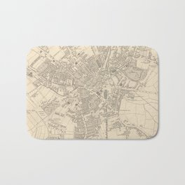 Vintage Map of Bradford England (1851) Bath Mat