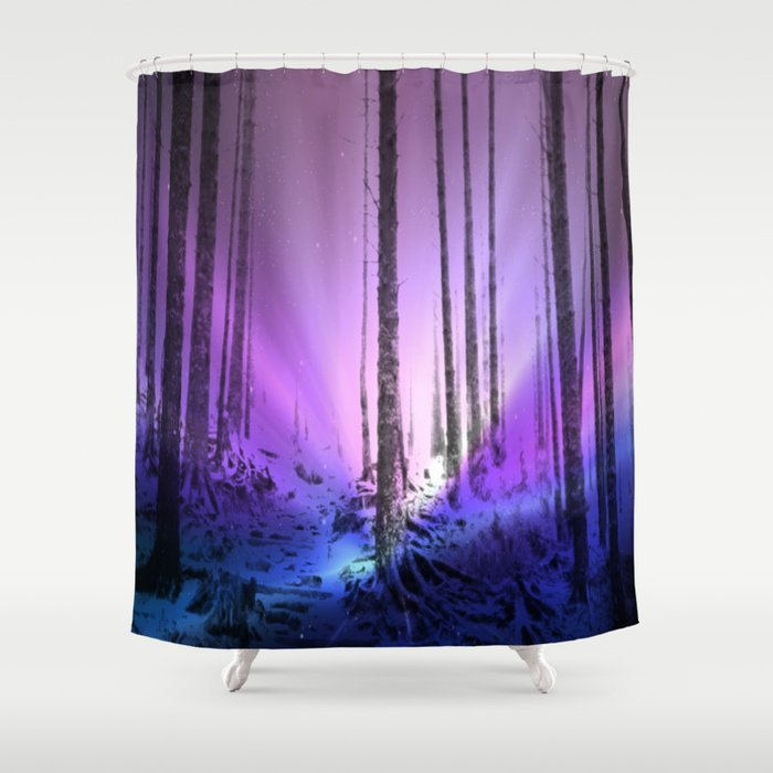 Magical Purple Woods Shower Curtain