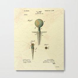 Golf Tee Patent - 1899 Metal Print