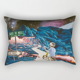 A Leisurely Ride to Hell #analog #collage Rectangular Pillow