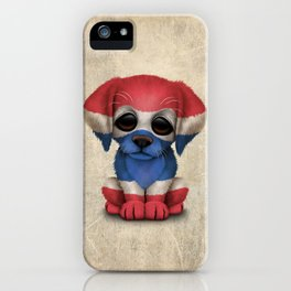 Cute Puppy Dog with flag of Thailand iPhone Case