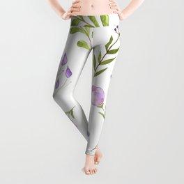 Purple Flower Field Leggings