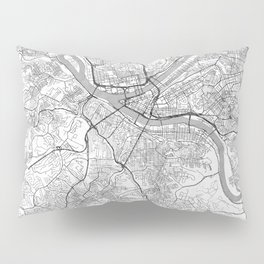 Pittsburgh Map Line Pillow Sham