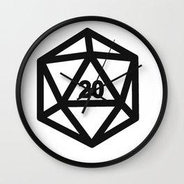 RPG Dice 20 Wall Clock