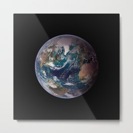 The Blue Marble - Western Hemisphere - Earth From Space Metal Print