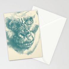 Gorilla Sketch in blue Stationery Cards