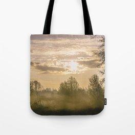 Sunrise in Woodburn Tote Bag