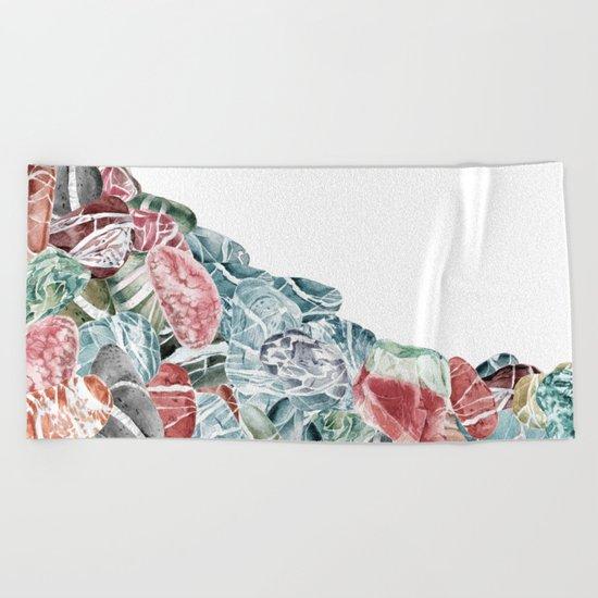 Coral Sea Pebbles Beach Towel