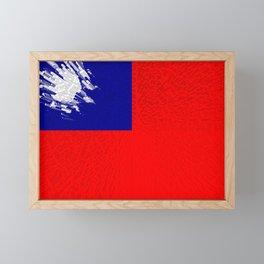 Extruded flag of Taiwan Framed Mini Art Print