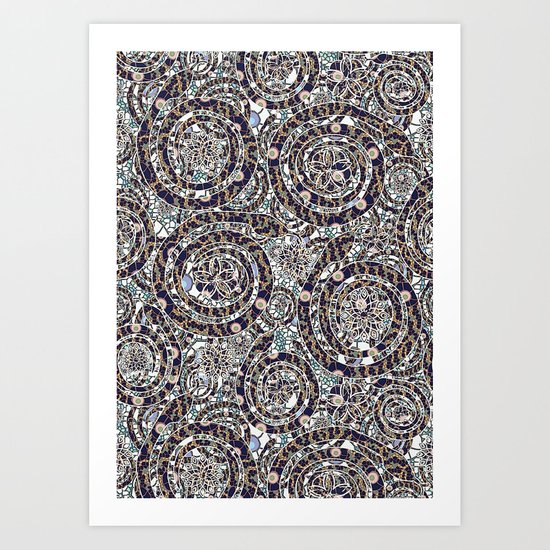 Year of the Snake mosaic Art Print
