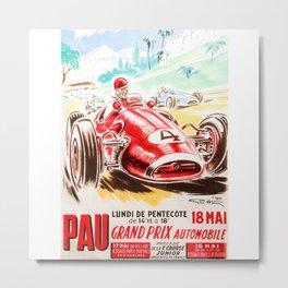 Grand Prix Pau, vintage poster, race poster Metal Print