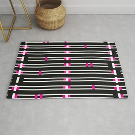 Licorice Bytes, No.9 in Black and Pink Rug
