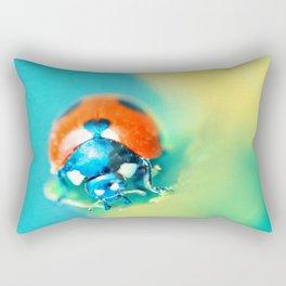 Ladybug in Aqua Mood Rectangular Pillow
