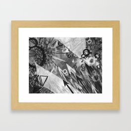 Abstract charcoal painting - Black and White Framed Art Print