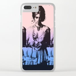 Triplets: Mirrored Hologram Girls Clear iPhone Case