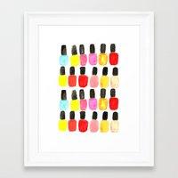 nail polish Framed Art Prints featuring Nail Polish by Bouffants and Broken Hearts