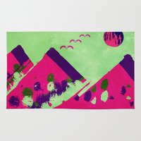 watermelon Area & Throw Rugs featuring Watermelon  by SensualPatterns