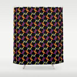 Primary Freeman Lattice on Black Shower Curtain