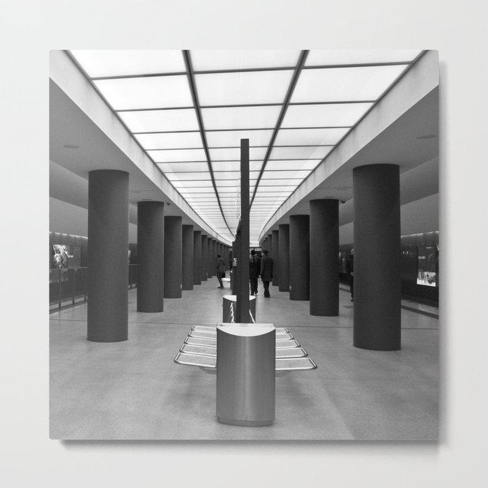 Tube Station Brandenburg Gate in Berlin Metal Print